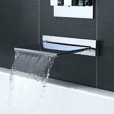 bathtub wall faucet mount waterfall mounted faucets bathroom moen