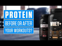 should you eat protein before or after