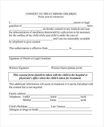 40 Free Medical Consent Forms Enchanting Printable Medical Release Form For Children