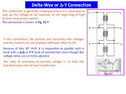 single and 3 phase transformer delta wye