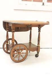 vintage wooden tea cart the urban rooster chalky paint