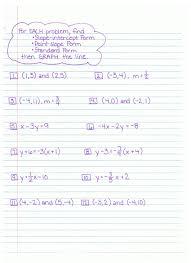 algebra 1 worksheets linear equations worksheets slope intercept form
