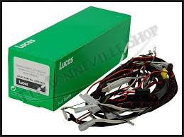 triumph 500 650 t120 tr6 t100 t100c genuine lucas wiring harness triumph 500 650 t120 tr6 t100 t100c genuine lucas wiring harness 1968 pn 54953443 g