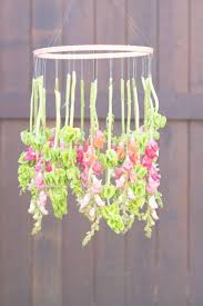 diy hanging fl chandelier the sweetest occasion with regard to flower chandelier gallery 37