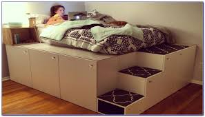 storage bed ikea hack. Gallery Of Ikea Hack Platform Bed With Stairs For Ideas Trends Storage B