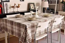 dining room table cloth. Brown Large Plaid Buffalo Check Tablecloth, Overlay Table Cloth, Topper, Rustic Dining Room Cloth