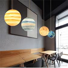 30cm nordic creative universe planet acrylic pendant light moon sun earth mars ur mercury jupiter saturn planet lamps green pendant lights grey pendant