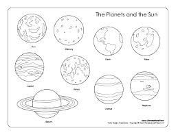 Coloring Pages Solar System Coloring Pages For Toddlers Sheets Of