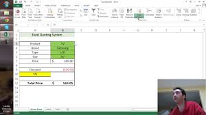 creating a quote sheet in excel creating a quote sheet in excel