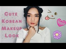 cute korean makeup look