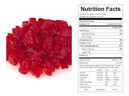 red hot cinnamon bulk gummy bears nutritional facts