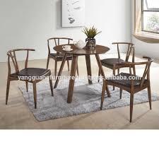 Modern Round Dining Table Solid Rubber Wood Buy Modern Round