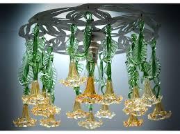 handmade glass chandelier handmade glass chandelier with amber flowers hand blown glass chandelier canada hand blown