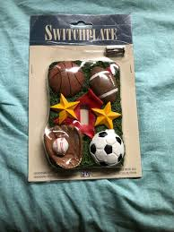 Sports Light Switch Plates All Star Sports Light Switch Wall Plate Basketball Football Baseball Soccer New
