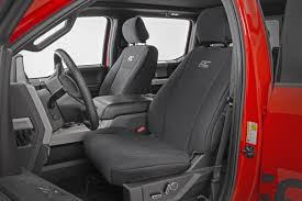 ford neoprene front rear seat cover black 15 19 f 150