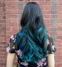 Blue Dip Dye On Light Brown Hair Dark Hair With Teal Dip Dye Blue Ombre Hair Teal Hair