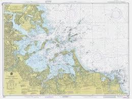 1979 Nautical Chart Of Boston Harbor Home Decor Nautical