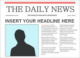 Newspaper Article Word Template Word Template Microsoft Article Feature Download
