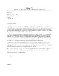 Cover Letter Purchasing Manager Procurement Specialist Cover Letter ...