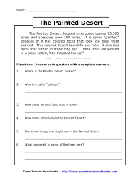 Free 4Th Grade Reading Comprehension Worksheets Free Worksheets ...