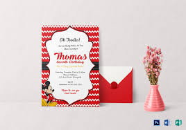 mickey mouse party invitation editable mickey mouse birthday invitation card template