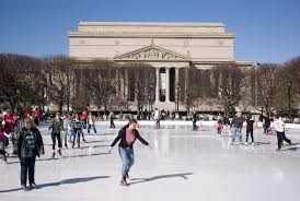 the national gallery of art s ice rink at the sculpture garden photograph by brett davis via flickr creative commons