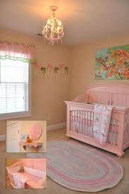 pink nursery furniture. Lovely Nursery Design By Rosenberry Rooms With Pink Crib On Wooden Floor Matched Cream Wall Furniture