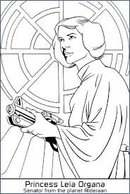 Rogue One Coloring Pages Princess Lea Star Wars Sheet Worksheet Org