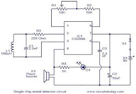 circuit diagram of metal detector project ireleast info single chip metal detector circuit electronic circuits and wiring circuit