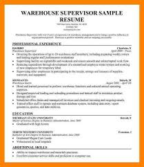 40 Warehouse Supervisor Resume Way Cross Camp Custom Warehouse Supervisor Resume