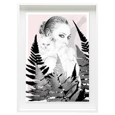 tiffany poster wall art print pink and grey