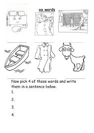 Help your child practise reading and writing phase 2 tricky or exception words (words in which the english spelling code works in an unusual or this quick phonics game is designed to help reception children practise blending two sounds. Oa Words Worksheet Teaching Resources