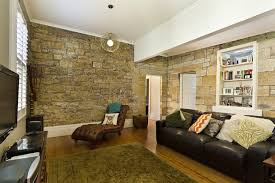These Interior Walls Could Fool You Into Thinking This Is A Stone House.  However, The Home Is New Construction With Drywall Over Stud Framing.