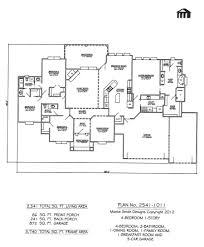 4 bedroom 1 story house plan