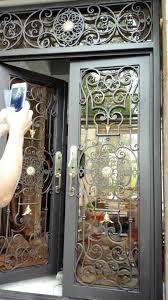 wrought iron doors custom iron front doors iron entry doors glass iron doors hc 1