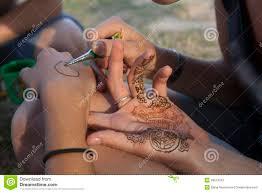 татуировка хны стоковое фото изображение насчитывающей украшение