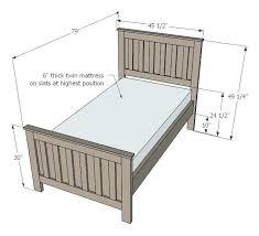 Twin Bed Frame Size Chart Damnxgood Com