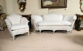 Matching Chairs For Living Room Louis Xv Style Sofa With Matching Wing Chair Swedish Paint