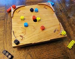 Wooden Sequence Board Game Jam Sumo Dice Dexterity Game 46