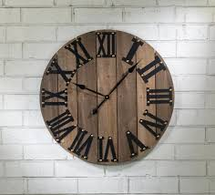 functional wooden wall clock on natural life wire wall art with wall decor by tripar international inc