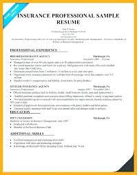 Insurance Representative Resume Insurance Customer Service Agent