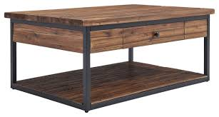 claremont 48 rustic wood coffee table