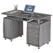 Techni Mobili Small Computer Desk in Grey