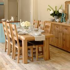 Oak Furniture Dining Room Country Refectory Table And Ladderback Chair Dining Set Table