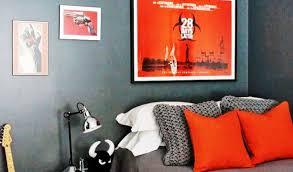 Orange And Grey Bedroom Orange Gray Bedroom Decorating Design Ideas Youtube
