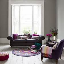 Gray And Purple Living Room Interior Designs For Your Home. Question About  Window Treatments For The Living Room.