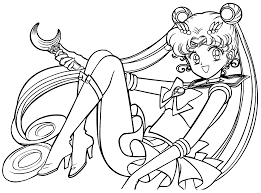 Small Picture Sailor Moon Coloring Pages zimeonme