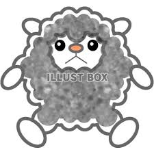 無料イラスト カラフルな羊背景透過png画像11