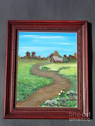 The Country Barn-ORIGINAL Painting by Jody Curran