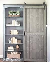 sliding bookcase door farmhouse style bookcases with a sliding barn door bayside sliding door bookcase costco